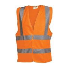 OX Hi-Vis Vest Orange Waistcoat Vest (Various Sizes)