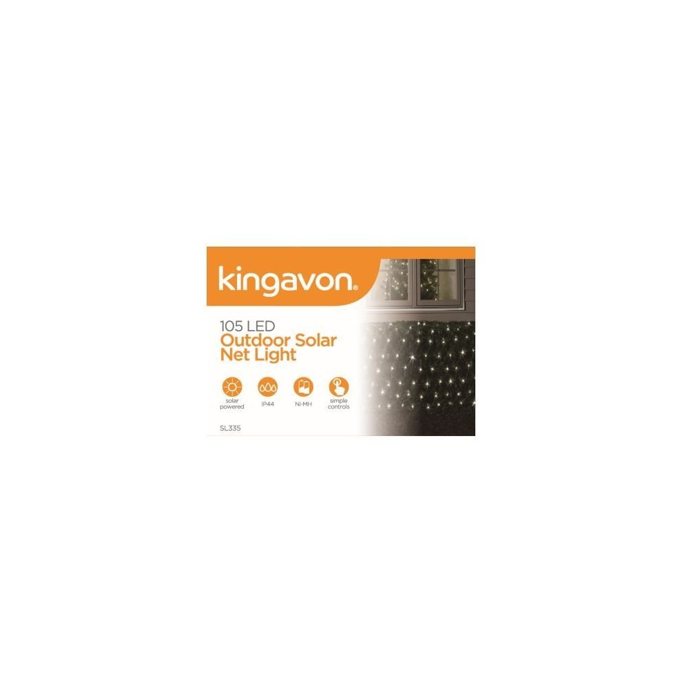 Kingavon 105 Led Outdoor Solar Net Light Black Lights Ed White Garden