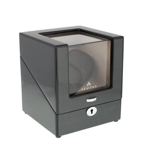 Watch Winder 2 Watches Carbon Fibre Grey Velvet interior by Aevitas