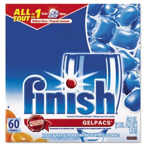 Reckitt Benckiser 81181 Dish Detergent Gel Packs, Orange, 60-Box