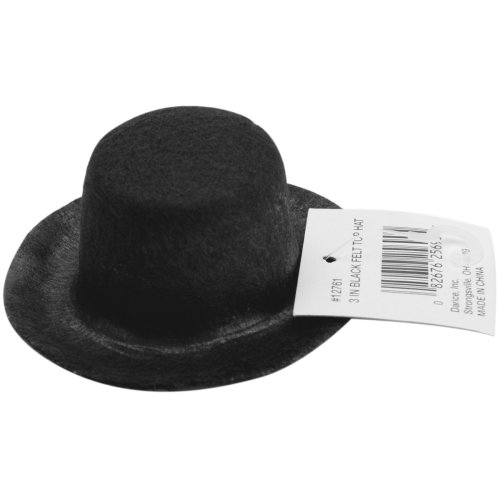 "Stiffened Felt Top Hat 3""-Black"