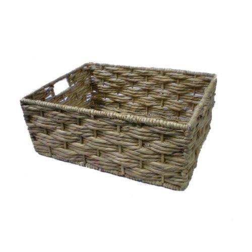 Handmade Water Hyacinth Storage Basket - Large