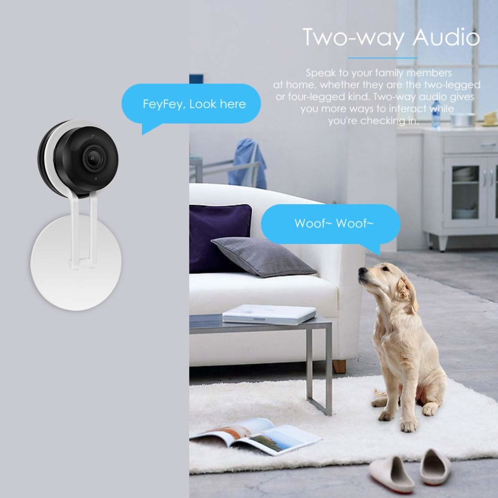 CPVAN WiFi Security Camera, Indoor Wireless IP Camera, Home Interior Camera  with Night Vision, Two Way Talk, Motion Detection, Support 2 4G Network