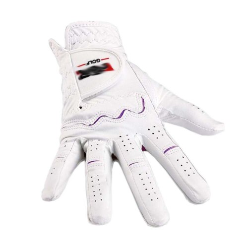 Summer Sun-proof Golf Gloves Women Protection Non-slip,White&Purple(#19)