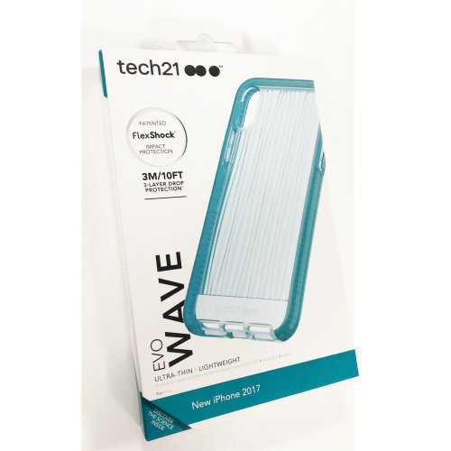Tech21 Evo Wave Impact Case Cover for Apple iPhone X / XS - Teal (T21-5865)