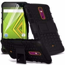 Itronixs - Nokia Lumia 830 Rugged Heavy Duty Armour Shock Proof Hard Stand Case Cover with Lcd Screen Protector