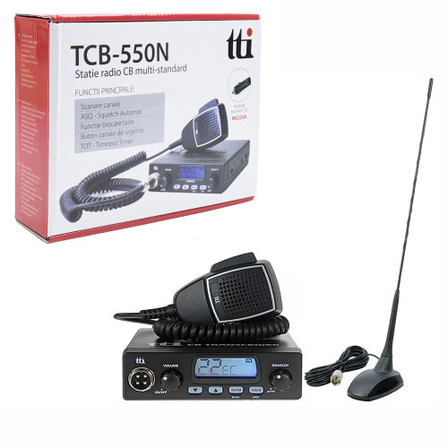 Bundle   CB Radio  TTi TCB-550N with  CB antenna Magnetic PNI Extra 48 and magnetic base
