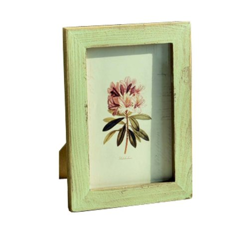 Photo Wall Mural Simple Fresh Wood And Colorful 6-inch Photo Frame
