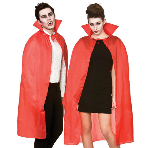 Vampire Dracula Cape with Collar (Red) | Halloween