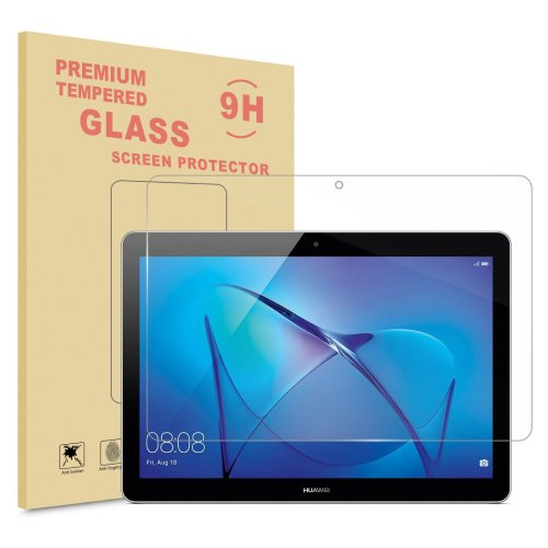 Infiland Huawei MediaPad T3 10 Screen Protector, Premium HD clear Tempered Glass Screen Protector for Huawei MediaPad T3 10 Tablet (Tempered Glass)