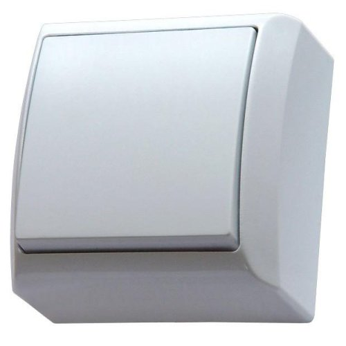 Surface Mounted Single Big Button Indoor Light Switch Click Wall Plate