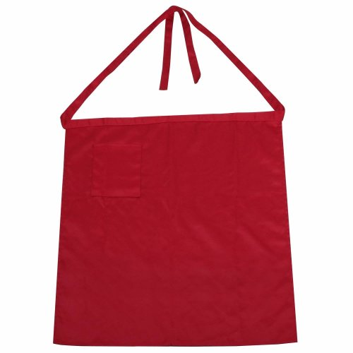 CHEF HALF APRON DARK RED