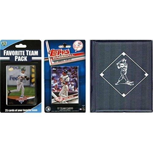 C & I Collectables 2017YANKEESTSC MLB New York Yankees Licensed 2017 Topps Team Set & Favorite Player Trading Cards Plus Storage Album