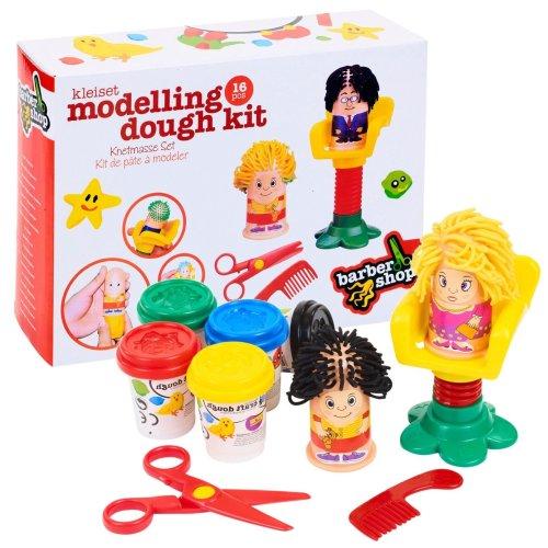 16 Piece Barber Shop Modelling Play Dough