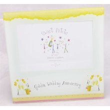 50th Anniversary Photo Frame by Shudehill giftware