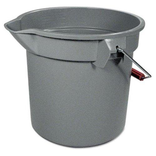 14-Quart Round Utility Bucket  12'' Diameter x 11-1/4''h  Gray Plastic