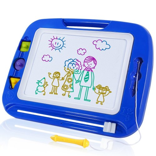 SGILE Large Magnetic Drawing Board - Erasable Scribble Board Colorful Magna Doodle Writing Etch Sketch Pad Learning toys for Kids Children...