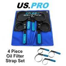 US PRO Swivel Oil Filter Strap Removal Wrench Set 4 Piece 3099