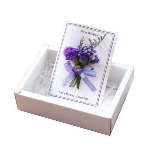 Real Pressed Dried Flowers Thank You Cards With Gift Boxes And Gift Bag