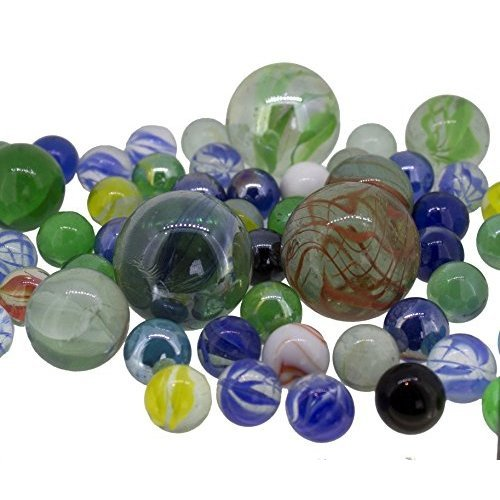 Star marble set, 0.5 kg, assorted glass marbles