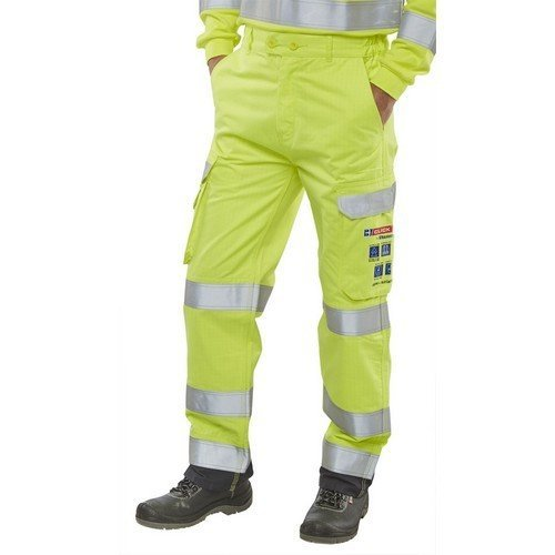 """Click CARC5SYN30T ARC Compliant Flame Retardant Hi Vis Yellow Trousers 30"""" Tall"""