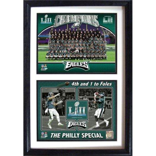 Encore Select 321-68 12 x 18 in. 4th & Goal LII World Champions Philadelphia Eagles - Double Frame