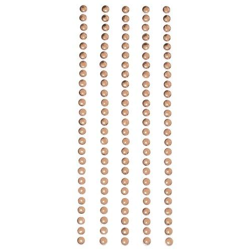 Metal Stickers Nailheads 3mm Round 125/Pkg-Brass