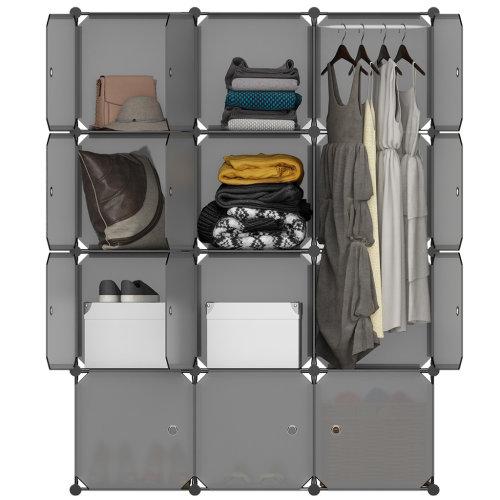 12Cube DIY Wardrobe Closet Cabinet Organizer Storage Free Cartoons