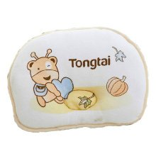 Cute and Soft Anti-roll Pillow Prevent Flat Head For 0-1 Years Ant Pattern Yellow