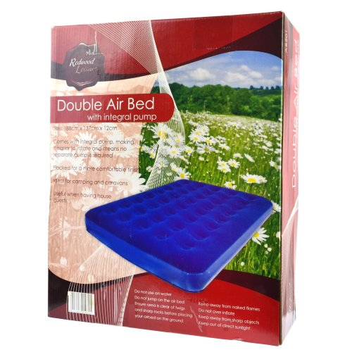 Double Twin Air Bed Mattress And Integral Pump Camping / Festivals CMP08