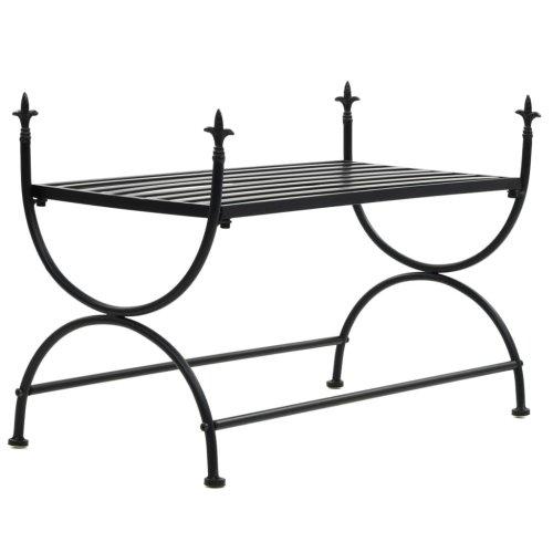 vidaXL Bench Vintage Style Metal 83x42x55cm Black Kitchen Living Room Seat