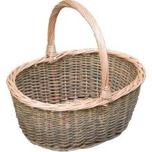 Small Green Willow Hollander Shopping Basket