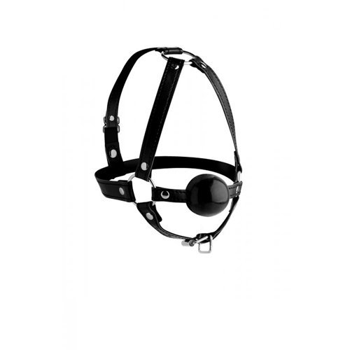 Head Harness With Ball Gag  BDSM Masks - Strict