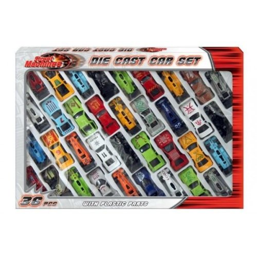 Street Machines Die Cast and Plastic Car Set TY792 (36 piece)