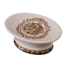 European Style Retro Ceramic Soap Box Oval Soap Holder for Bathroom, Yellow