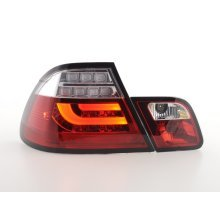 Taillights LED BMW serie 3 E46 Coupe Year 03-07 red/clear