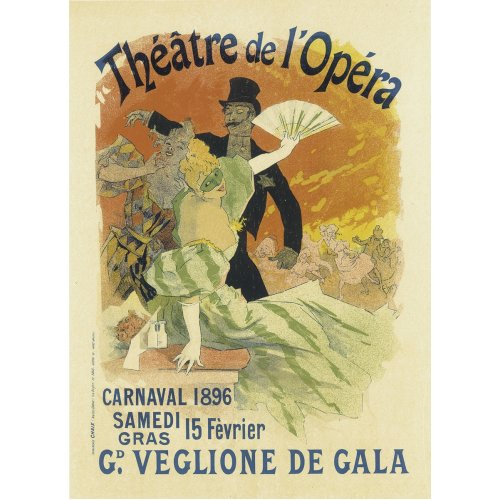 Advertising poster - Théâtre de l'Opéra - High definition printing on stainless steel plate