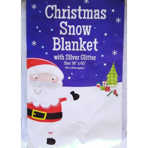 GLITTER Snow Blanket 152 x 92cm Christmas Decoration Table Tree Artificial Fake