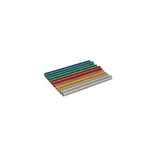 Silverline 432183 Glitter Mini Glue Sticks 10pk7.2 x 100mm - 7mm 20 Mixed -  glitter glue sticks 7mm x 100mm 20 mixed colours gold silver red blue