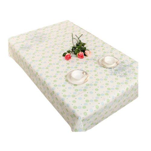 Elegant Stain-resistant Tablecloth Oilproof Tea Table Cover 100x140 CM,P1