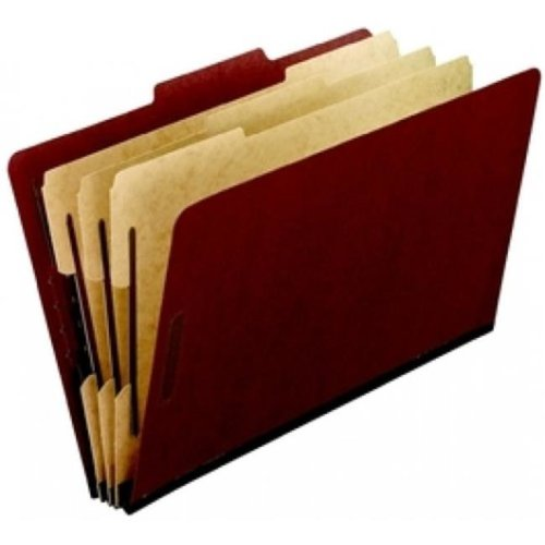 Pendaflex 2357R Pressboard Classification Folders, Pack Of 5