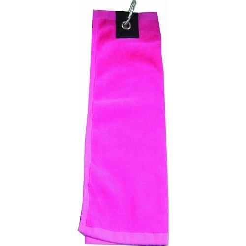 Pink Three Fold Golf Towel - Longridge 3 Ladies Luxury Shoe Ball Club Cleaner -  fold golf towel pink longridge 3 ladies three luxury shoe ball club