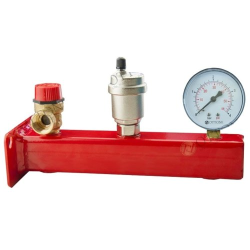 "3/4"" Safety Group Bar Boiler Heater Up to 50kw Valve Vent Manometer 3 or 6 Bar"