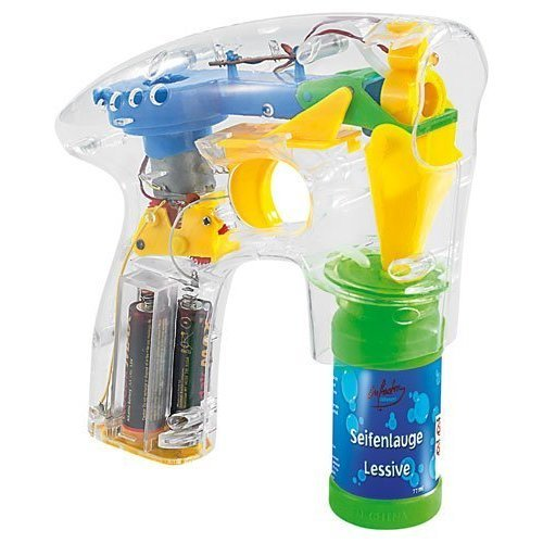 infactory Soap Bubble Gun with LEDs including 2x Soap Bubble Solution