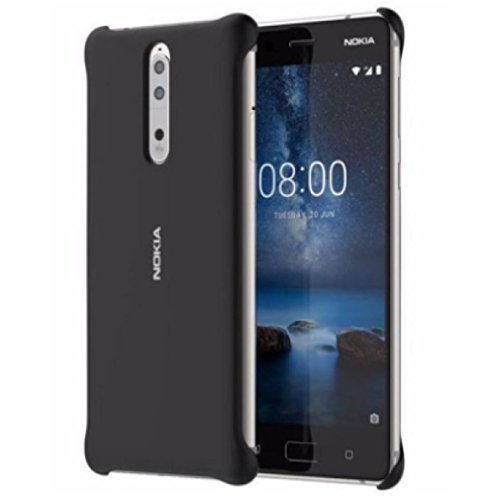 Nokia Soft Touch Case CC-801 for Nokia 8, Black - suitable for Nokia 8