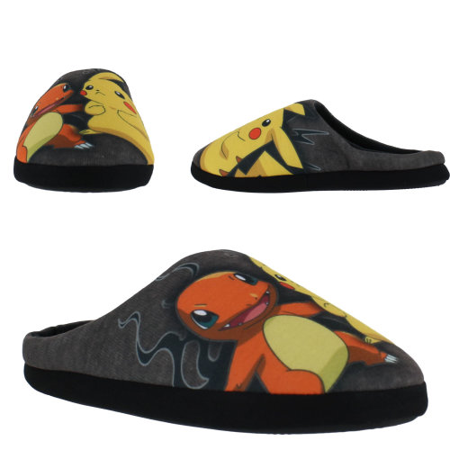 Pokemon Pikachu Huxley Slippers Fleece Mules Lined UpMqSzV