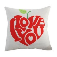 Linen Pillow Sofa Car Home Decoration Pillow For Valentine's Day I Love You HQ10