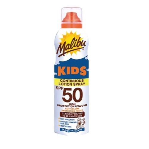 Malibu Continous Lotion Spray for Kids SPF 50 175ml