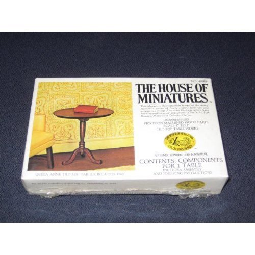 The House Of Miniatures Queen Anne Tilt Top Table Circa 1725 1760 Doll House Furniture 40008