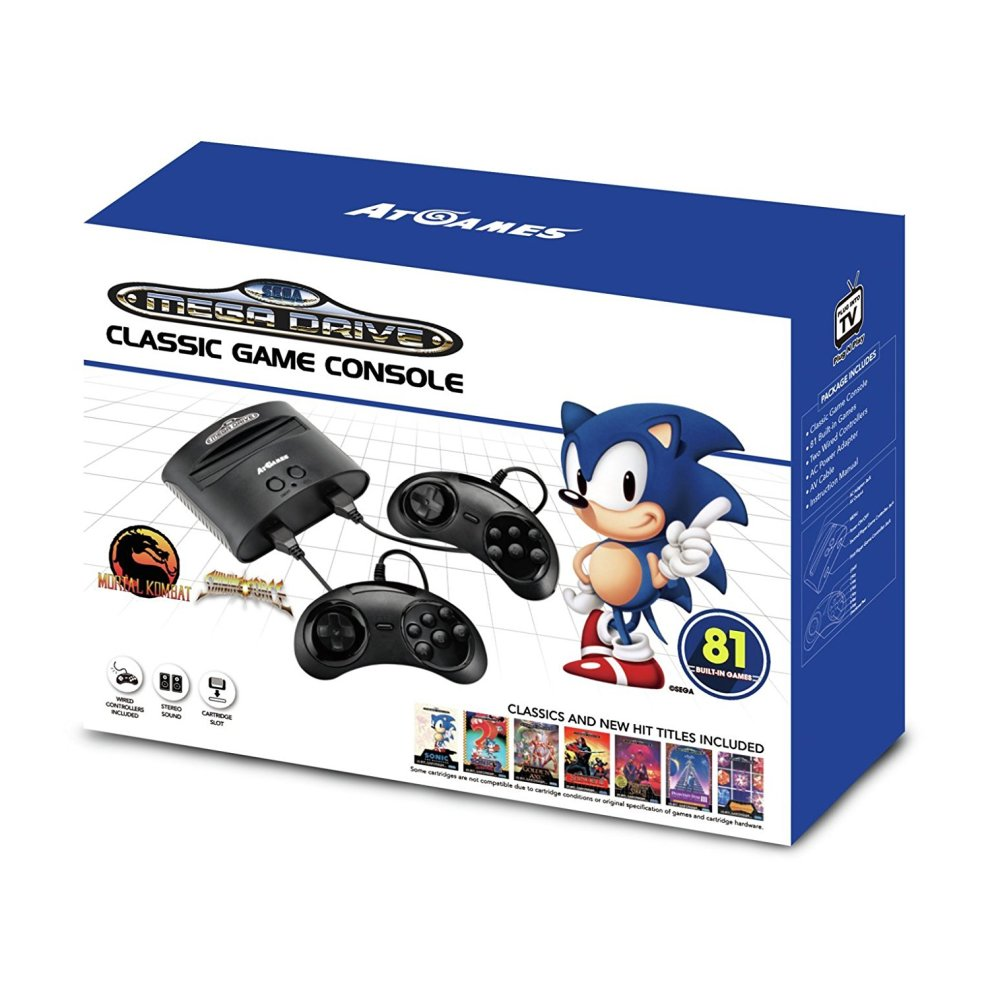 e8d6401b8 Sega Mega Drive Classic Game Retro Console 81 Built-In Games on OnBuy